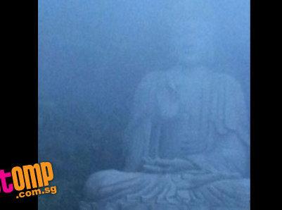 buddha at sky